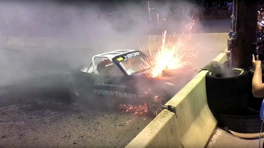 Burnout Boss: See This V8 Miata Blow Up While Roasting Tires