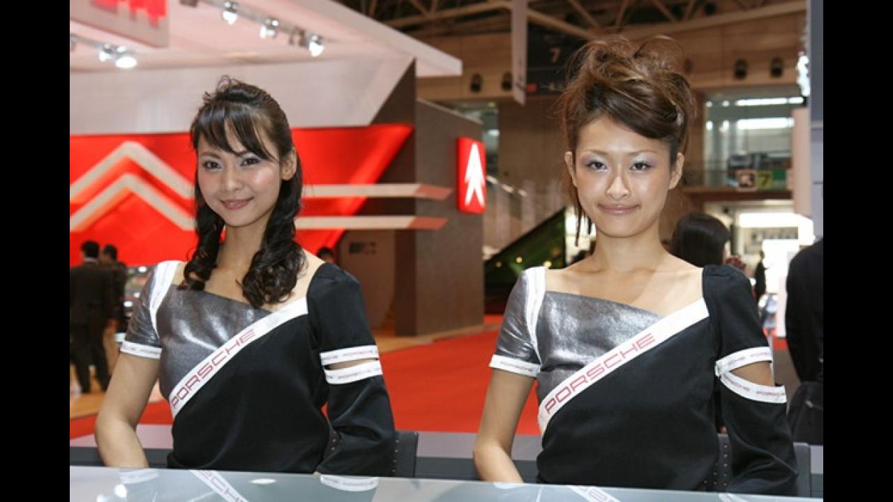 Bei Porsche konnte man sich nicht zwischen luftiger und warmer Kleidung entscheiden