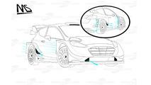 Ford Fiesta WRC 2017 streamlines detail