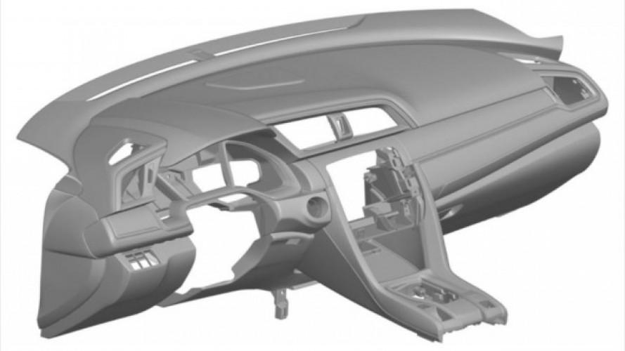 Novo Civic 2016: registro de patentes confirma fim do painel em dois andares