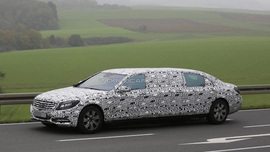 2016 Mercedes-Benz S-Class Pullman spied flaunting its six doors