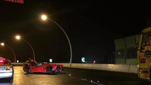 LaFerrari crash in Shanghai