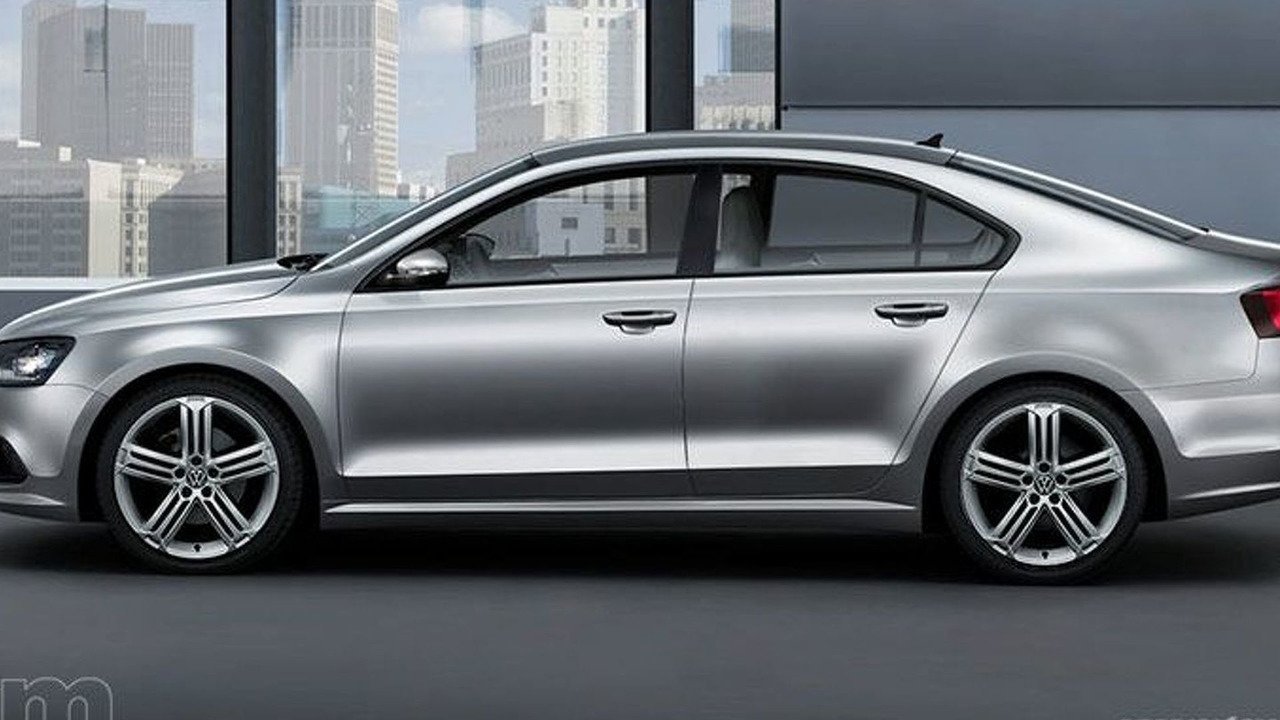 2011 VW Jetta sedan artist rendering