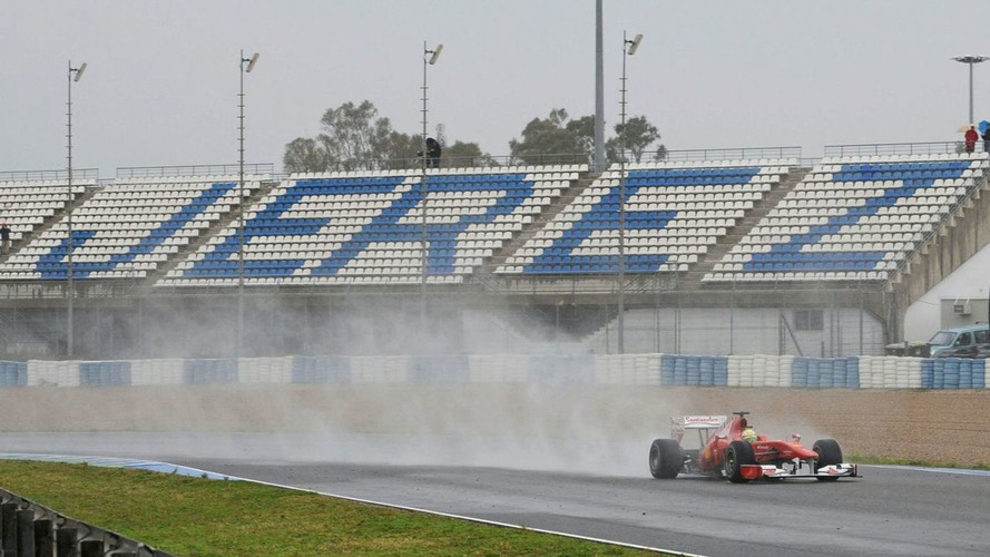 Heavy rain lashes Jerez on Monday