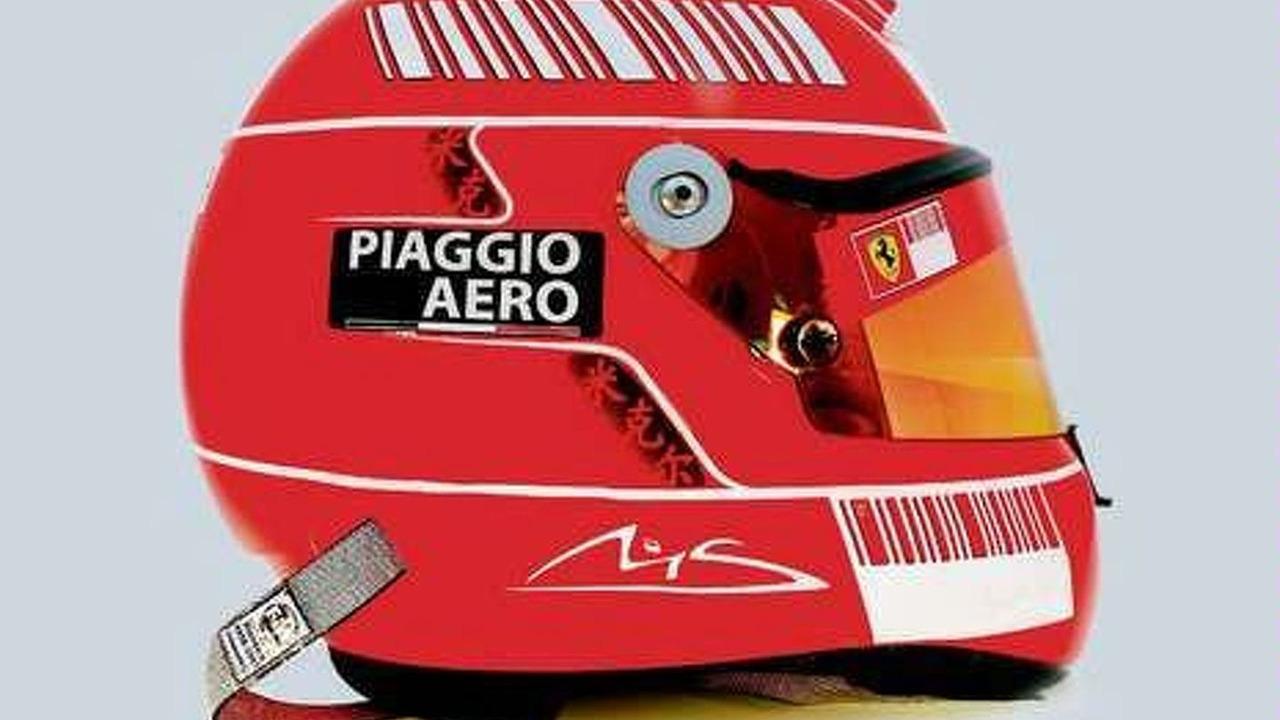 Michael Schumacher revised Schuberth RF1 helmet 08.08.2009 - low res