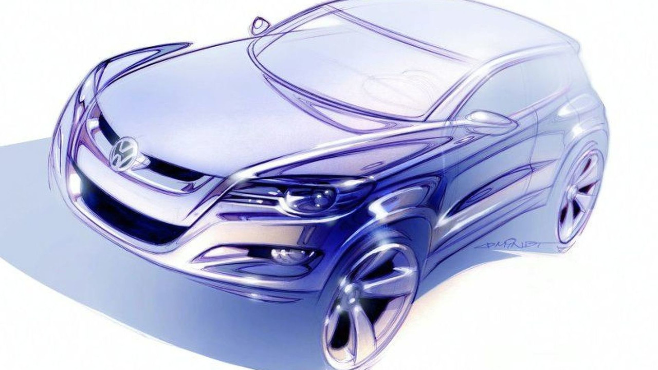 VW Tiguan design sketch