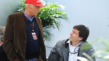 Niki Lauda (AUT) Mercedes Non-Executive Chairman with Toto Wolff (GER) Mercedes AMG F1 Shareholder and Executive Director