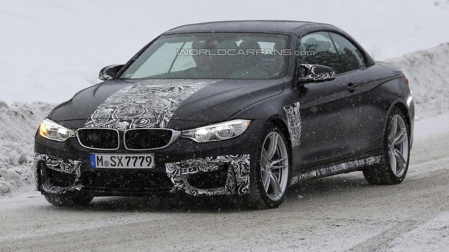 2014 BMW M4 Convertible spied winter testing
