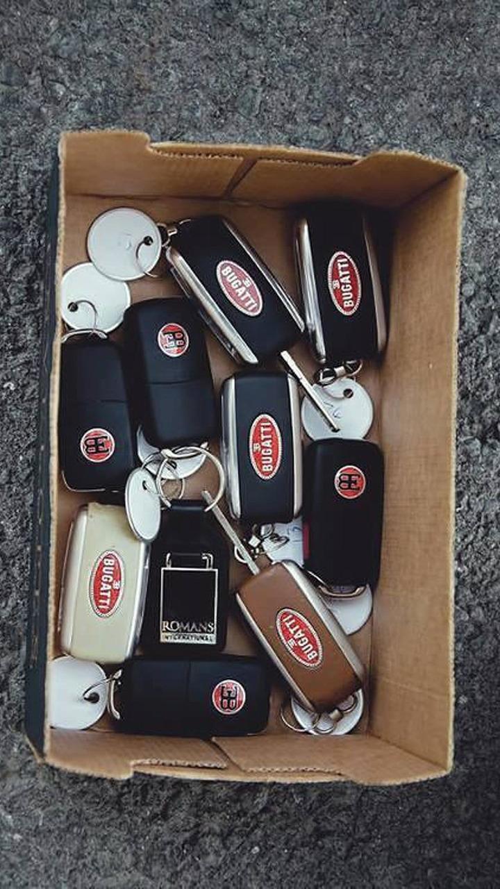 Keys from ten Bugatti Veyrons 07.08.2013