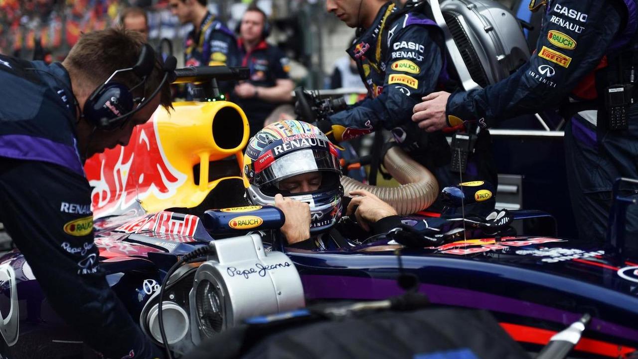 Sebastian Vettel (GER) on the grid, 20.04.2014, Chinese Grand Prix, Shanghai / XPB