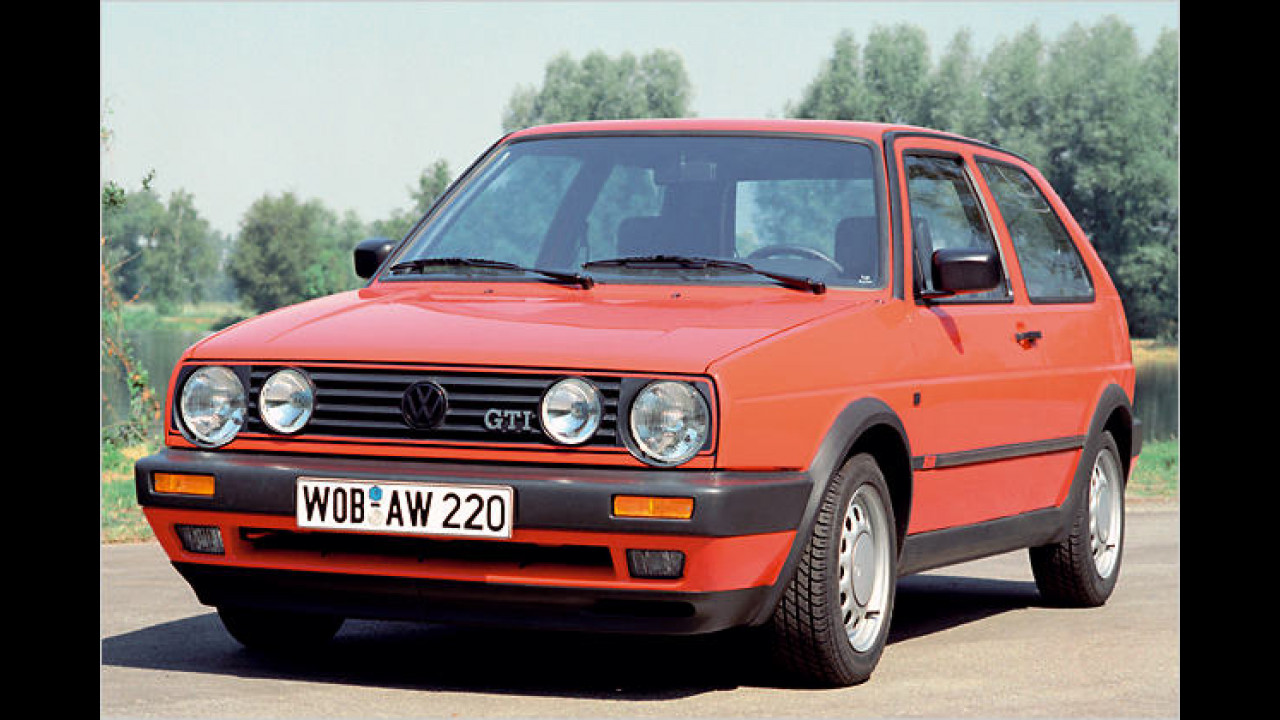VW Golf II GTI, Bauzeit: 1983 bis 1991