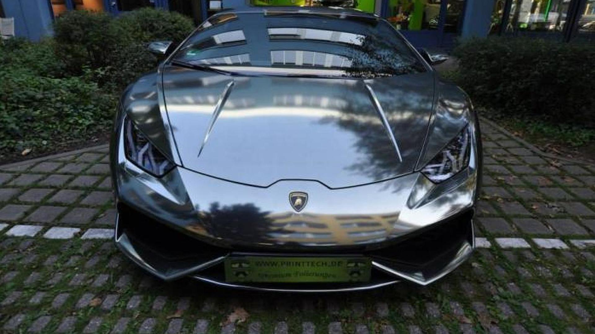 Суперкар Lamborghini Huracan в виниле от Print Tech