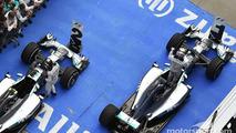 Race winner Lewis Hamilton, Mercedes AMG F1 W05 and team mate Nico Rosberg, Mercedes AMG F1 W05 celebrate in parc ferme