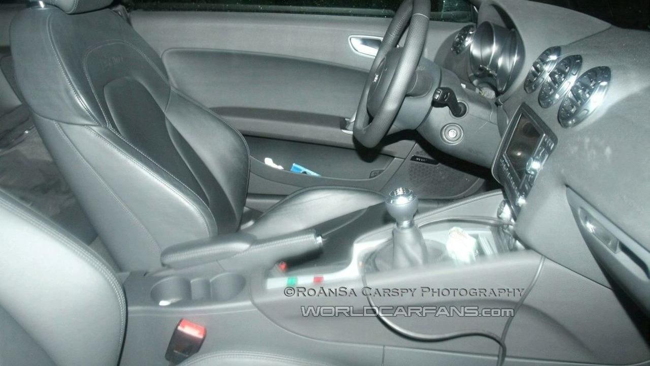 TT RS spy picture interior