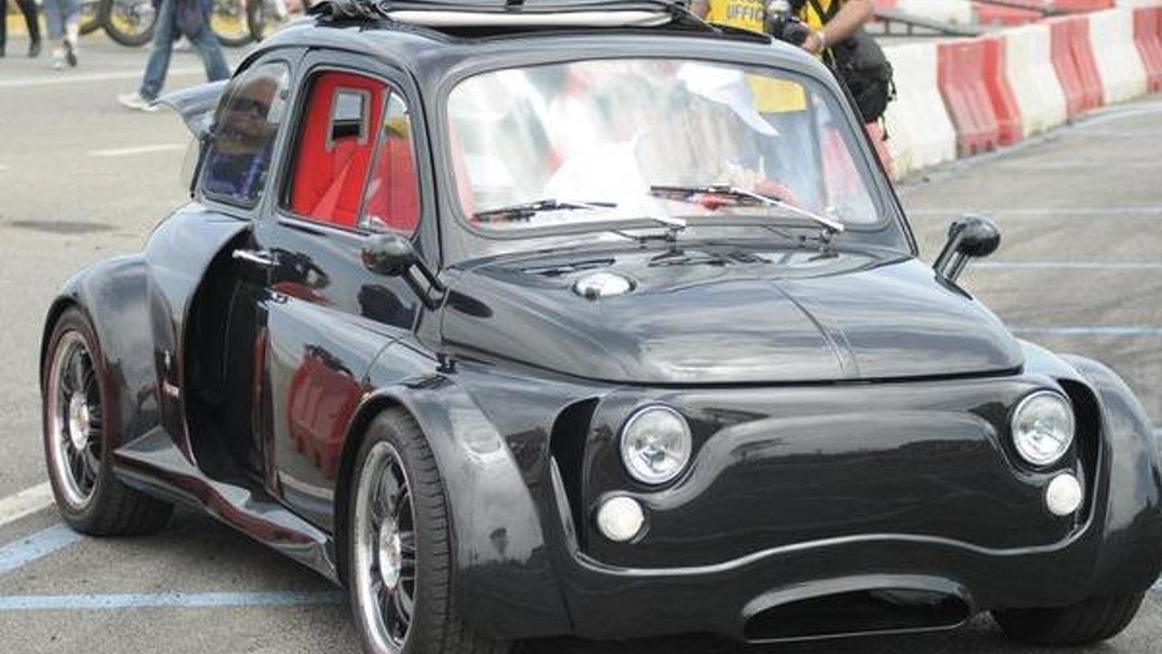Modified Fiat on Fiat 500 Lamborghini V12 Engine
