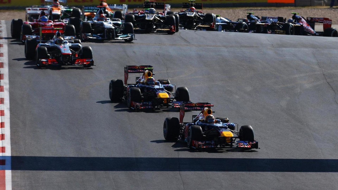 2012 United States Grand Prix race start 18.11.2012
