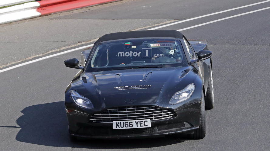 Photos espion Aston Martin DB11 Volante et Coupé 2018