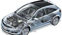 Opel Astra Diesel Hybrid Concept cutaway