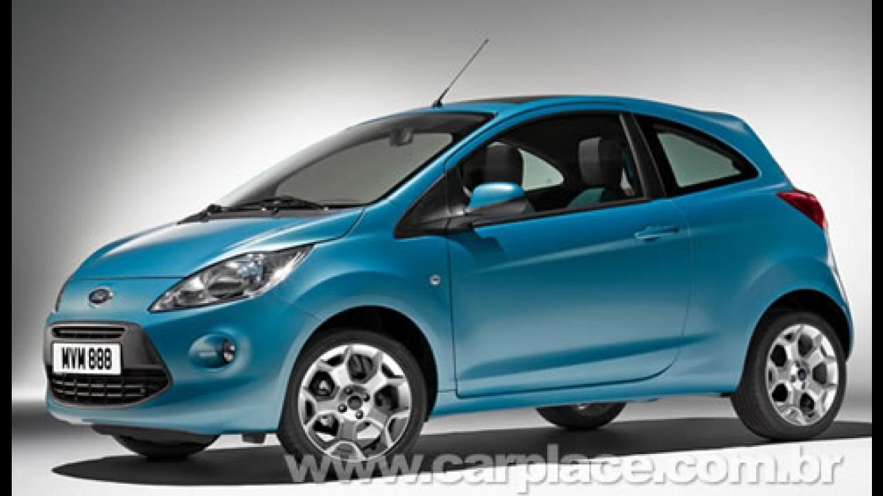 Novo Ford Ka 2009 Europeu: Novas fotos revelam traseira e interior do compacto