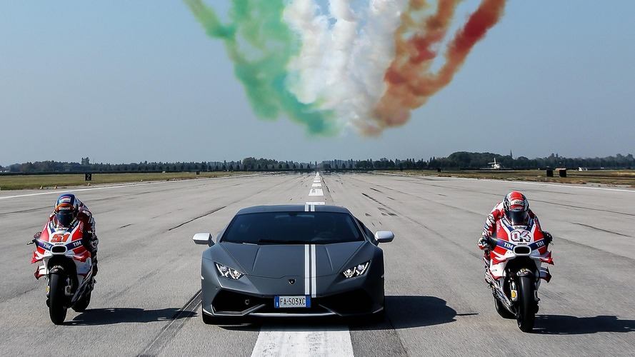 Lamborghini celebrates Passioni Tricolori with Ducati, Italian Air Force