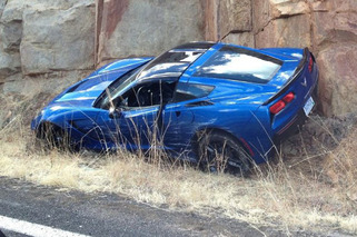 First C7 Corvette Stingray Crash