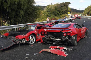 Ten Charged in $4 Million, 14-Supercar Crash