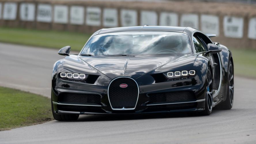 Bugatti Chiron rumbles up the Goodwood hillclimb
