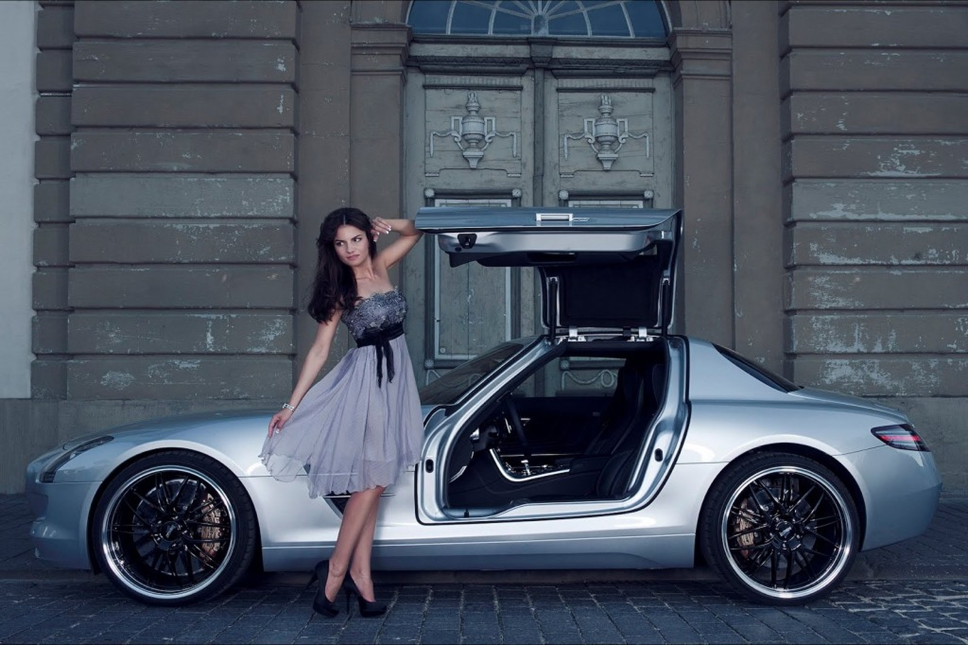 Inden Puts a Hot Girl in an Even Hotter SLS AMG