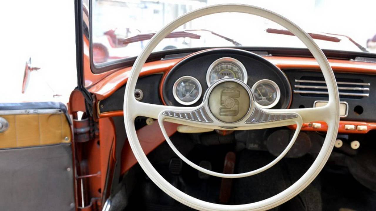 1959 Skoda 450 steering wheel