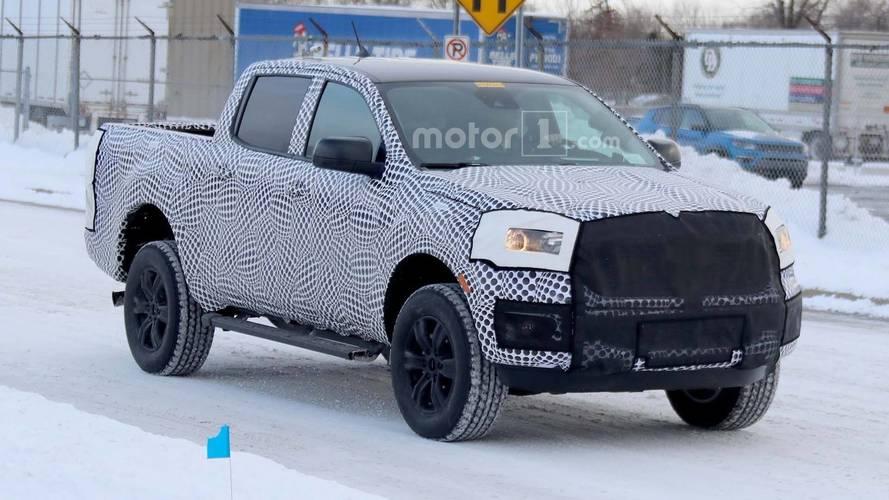 2019 Ford Ranger XLT Spied Testing On Snowy Roads