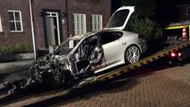 Kiégett Porsche Panamera