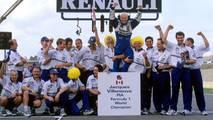 Campeón del mundo: Jacques Villeneuve con el equipo Williams