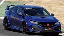 Honda Civic Type R y pilotos HRC