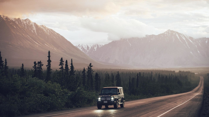 Mercedes G-Class on tour from Canada to Alaska
