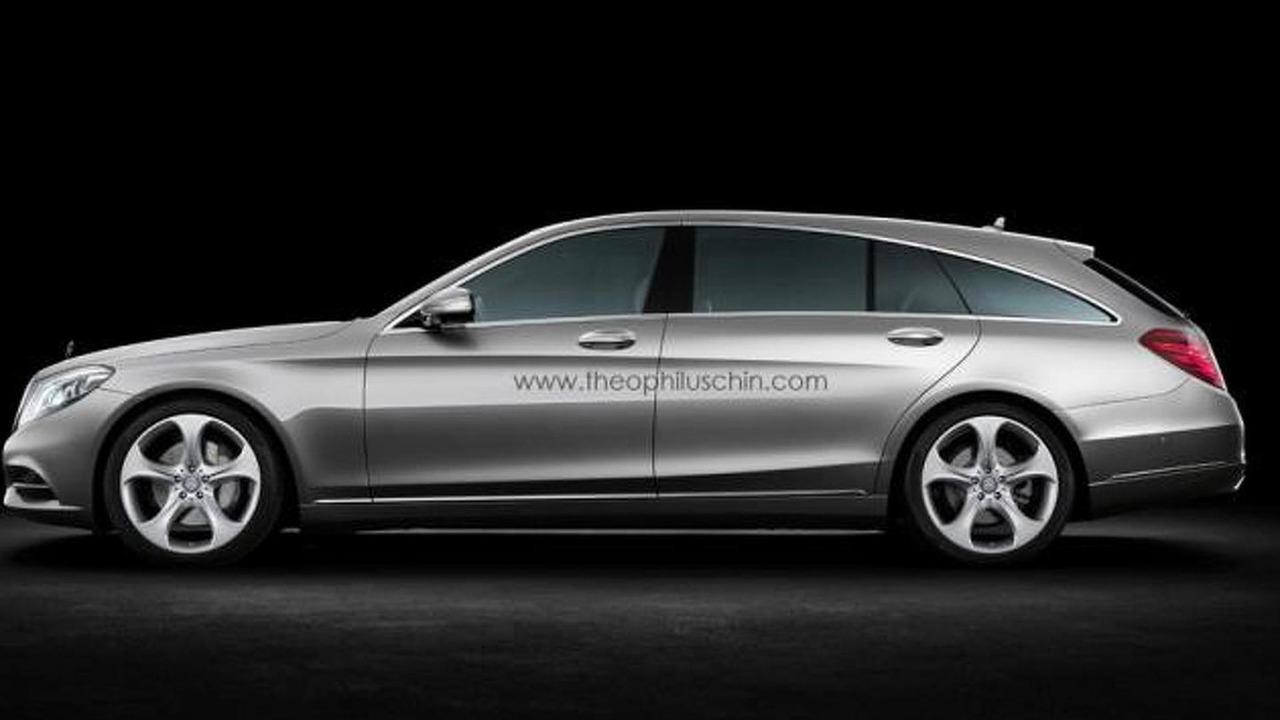 Mercedes S-Class Shooting Brake rendering 24.10.2013