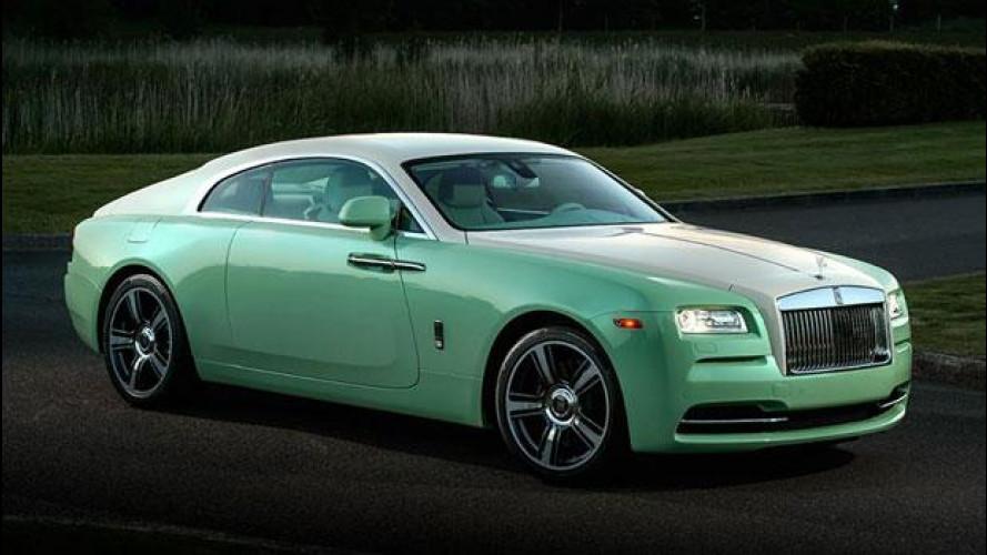 Rolls-Royce Wraith Jade Pearl, fatta su misura