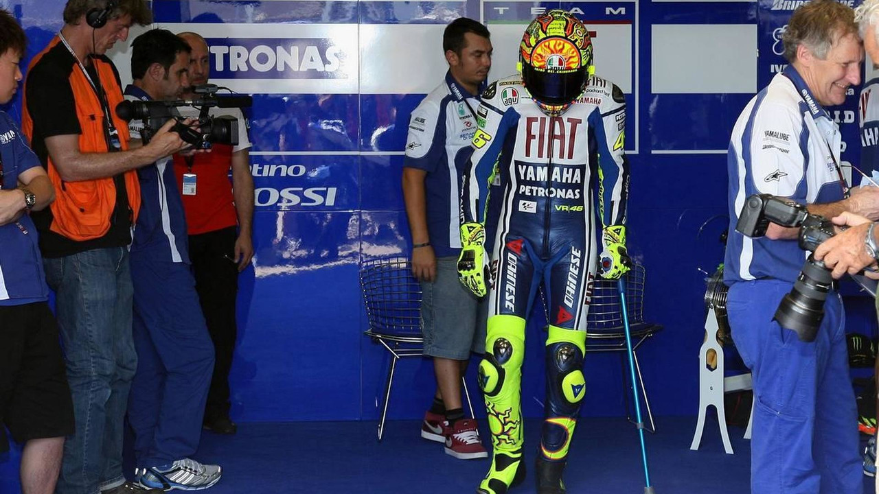 Valentino Rossi (ITA) Team - Fiat Yamaha Team, on his first rides after his accident, 16.07.2010 Oberlungwitz, Germany, Sachsenring