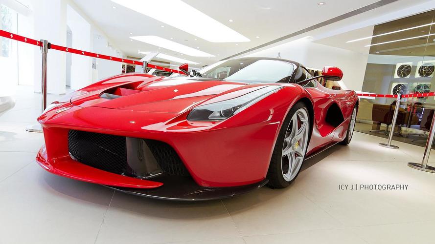 LaFerrari photographed at Hong Kong dealership