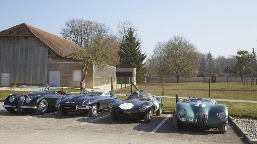 Jaguar F-Type meets its ancestors to recreate history [video]
