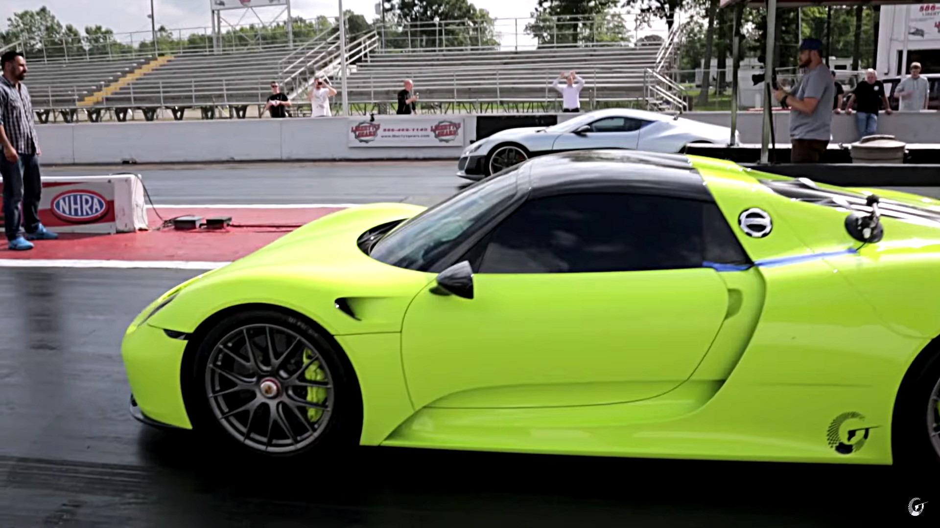 rimac-concept-one-races-porsche-911 Gorgeous Porsche 918 Spyder Drag Race Cars Trend