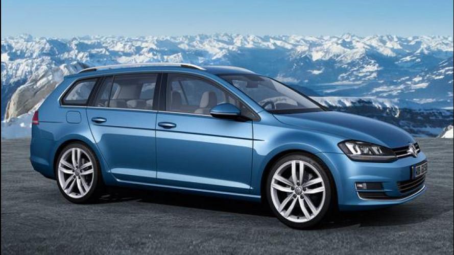 Nuova Volkswagen Golf, anche Variant