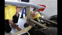 La Ferrari 312T4 all'Autodromo di Modena per le riprese di