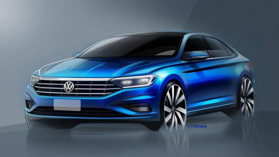 Novo VW Jetta 2019 tem novos desenhos revelados, inclusive do interior