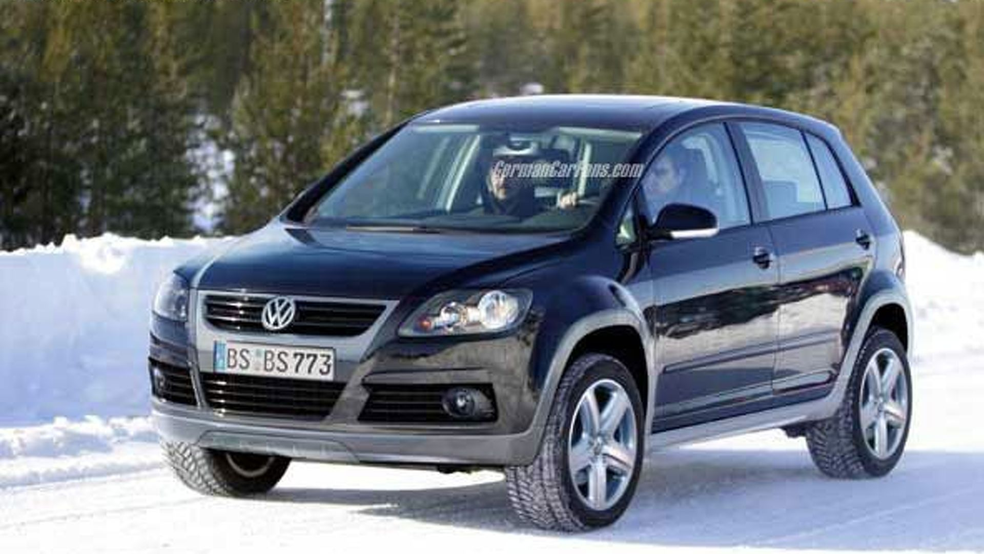 vw cross golf suv spy photos. Black Bedroom Furniture Sets. Home Design Ideas