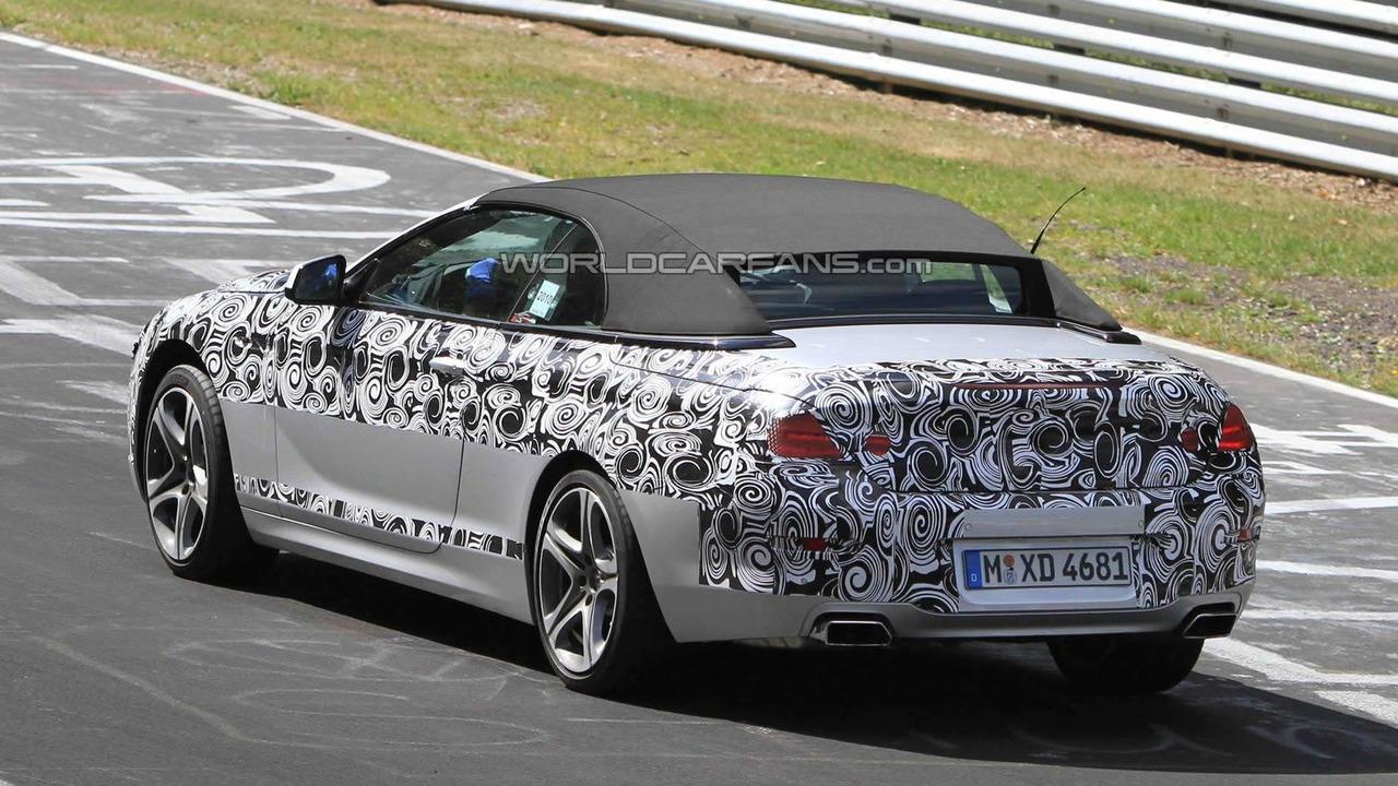2012 BMW 6-Series Cabrio prototype testing on Nurburgring