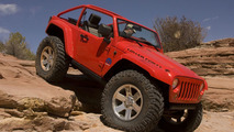 Mopar Jeep Wrangler Lower Forty, which is equipped with massive 40-inch x 13.5-inch 0R20LT tires mounted on Mopar 20-inch forged aluminum wheels, and takes the new Jeep Wrangler platform to a new level.