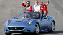 Fernando Alonso, Luca di Montezemolo, Felipe Massa, at Finali Mondiali Ferrari, Ricardo Tormo di Cheste circuit, Valencia, Spain, 15.11.2009