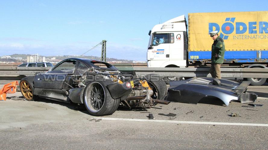 Pagani C9 Prototype Autobahn Crash in Germany