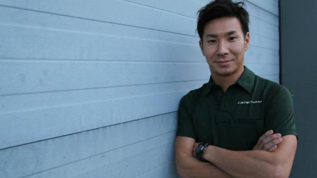 Kamui Kobayashi Caterham F1 Team Leafield UK