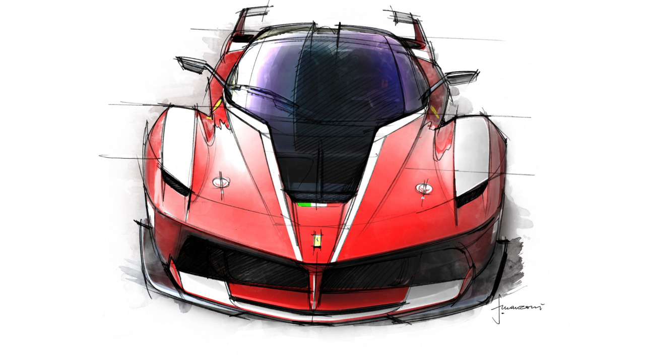 bient t une version plus extr me pour la ferrari fxx k. Black Bedroom Furniture Sets. Home Design Ideas
